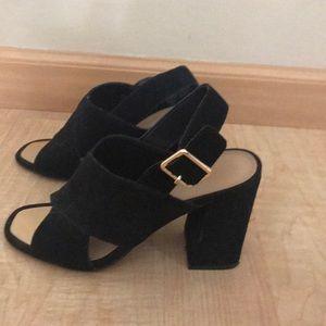 Aldo suede block heel sandals